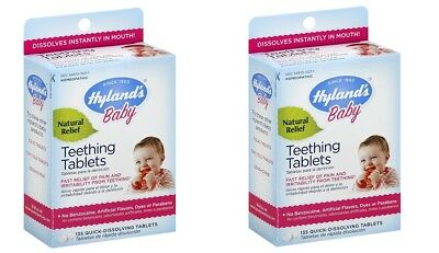 PACK OF 2 Hyland's Baby Chamomille Natural Teething Relief Medicine 135 TabsRARE