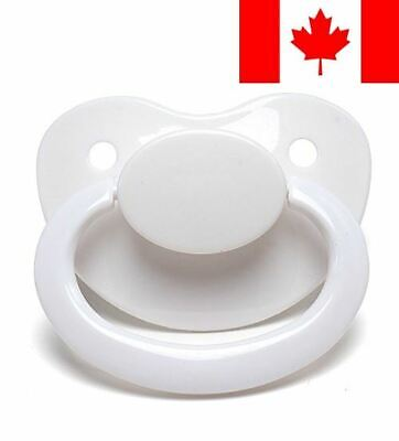 LittleForBig Adult Sized Pacifier Dummy for ADULT BABY ABDL BigShield White