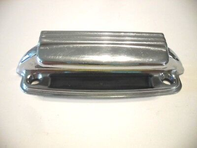 Vtg 40's CHROME Cabinet Door PULL Spring Latch Cup Bin Type Amerock Airstream