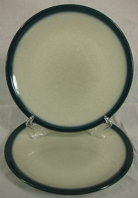 "Wedgwood Blue Pacific Dinner Plates Lot of 2 Coupe Shape 10 3/8"" England"