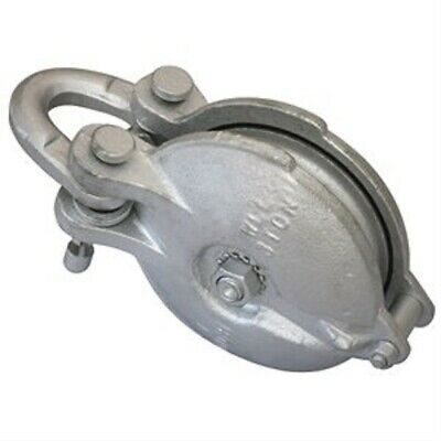 "4"" Sheave Snatch Pulley Block, 3/8 Inch Wire Rope Cable, WLL 3 Ton"