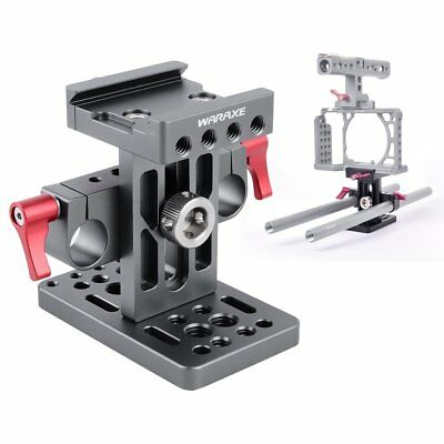 WARAXE Arca Swiss QR Baseplate For Sony A6000 A6300 A6500 Rig Cage 15mm Rail Rod