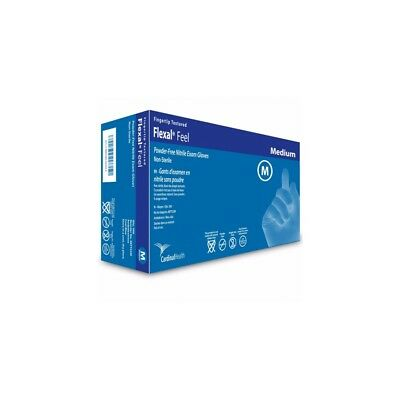 Cardinal Health Flexal Feel Nitrile Exam Gloves, Medium -200/Pack *SHIPS FREE*