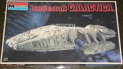 Rare BATTLESTAR GALACTICA White Edition 1980 Model Kit Monogram / Bandai + Bonus