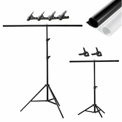 Meking T Backdrop Stand Metal PVC Background Photography Support System + Clamp