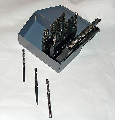 A thru Z Letter Drill Set in Huot Case~USA Drills~Excellent Condition