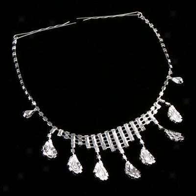 Women Lady Crystal Forhead Sequin Headpiece Hair Jewelry Accessories