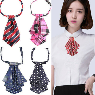 Formal Commercial Bow Tie Women Cravat Silk Waitress Neck Wear