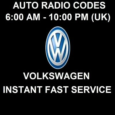 Volkswagen Car Radio Unlock Pin Code - All Models - Fast Service