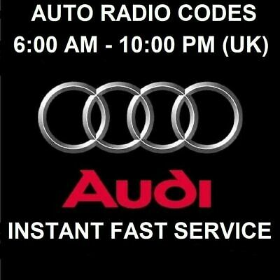 Audi Car Radio Unlock Pin Code - All Models - Fast Service