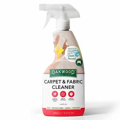 Oakwood Carpet & Fabric Cleaner 500ml | Spot Stain Remover Wine Coffee Chocolate