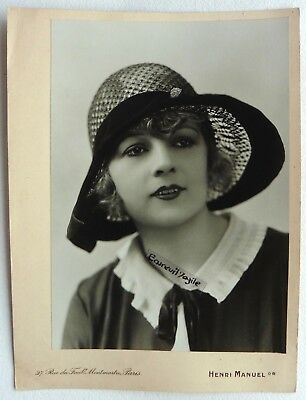 PHOTO MODE 1930 HENRI MANUEL chapeau art deco Marthe CHAUMONT mannequin G320