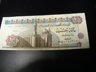 EGYPT....100 Pounds Uncirculated 2004 Banknote SCARCE...High Catalog Value.