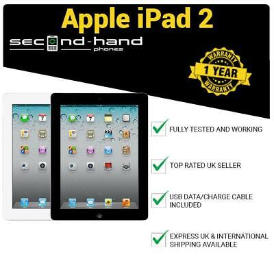 "Apple iPad 2 16/32/64GB wi-fi + 3G Cellular Unlocked 9.7"" (2nd Gen) Black/White"