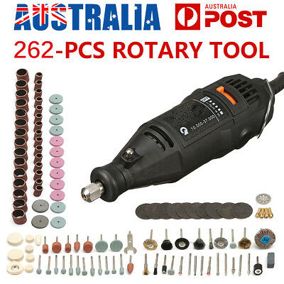262PCS Electric Die Grinder Rotary Tool Set Accessory Polisher Carving Carbide