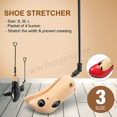 Adjustable Wood Shoes Stretcher Women Men Shoe Boots Tree Shaper Pine Wooden AU