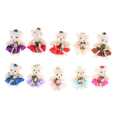 Lovely Mini Soft Plush Bears 12cm Stuffed Small Bear Doll Toy For Kids Gift