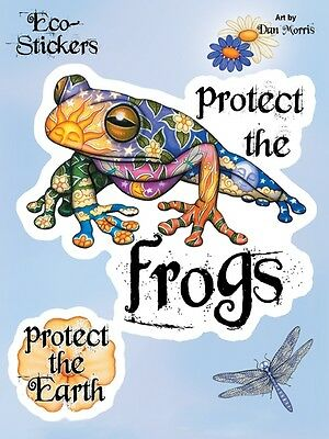 Save The Earth Psychadelic Frog Sticker/Vinyl Decal Set