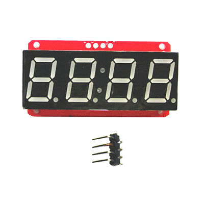 "4 Digit Tube 7-Segment 0.56"" LED Display Module HT16K33 I2C for Arduino"