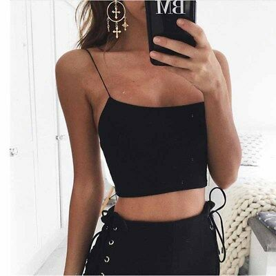 Women Sexy Tops Backless Solid Sleeveless Shirts Dew Navel Summer Beach Party