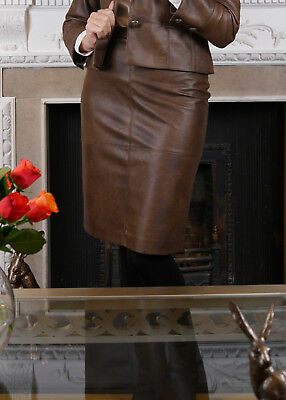 Faux Leather Brown Skirt