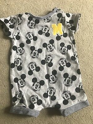Baby Boy Romper Mickey Mouse Next 3-6m
