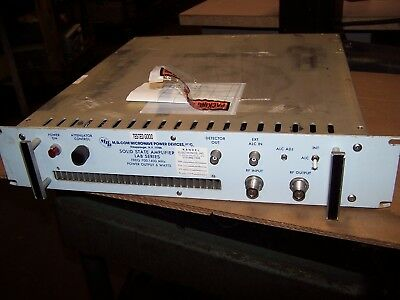 MICROWAVE POWER DEVICES LAB 3-714-6E SOLID STATE AMPLIFIER 6 WATT  700-1400 MHz