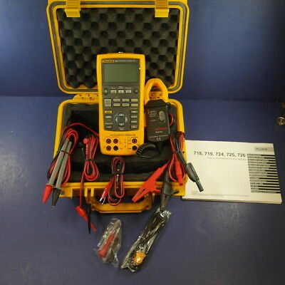 New Fluke 726 Precision Multifunction Process Calibrator, Case, Clamp, Leads