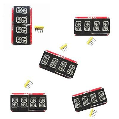 5 Pcs 0.54inch 4 Digit Segment Red Tube LED Display Module for Arduino I2C