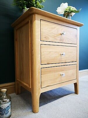 Bergen Light Oak Extra Large Bedside Cabinet / Nightstand / Scandinavian Style & PAIR OF BERGEN Light Oak Extra Large Bedside Cabinets/ Scandinavian ...