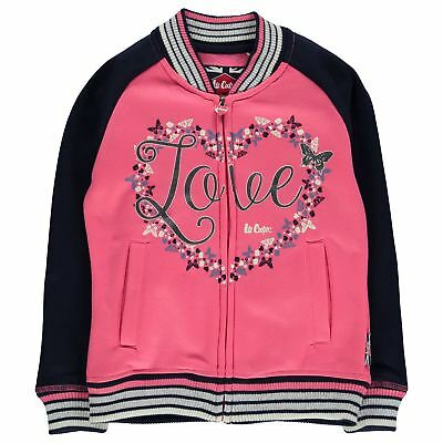 Lee Cooper C Glitzy BB Swt Girls Childrens Zipped Pullover Jumper