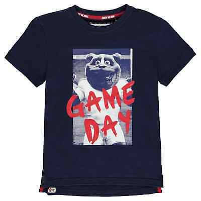 RFU England Graphic T Shirt Youngster Boys Crew Neck Tee Top Short Sleeve