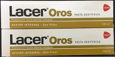 2 x  PASTA LACER OROS 125ml TOTAL 250ml toothpaste  EXP.DATE 05/2023
