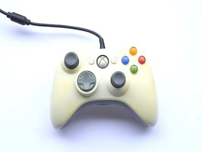 Official Genuine Original Microsoft Xbox 360 White Wired Controller Pad