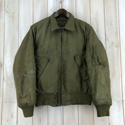 Vintage 70s US Army Flight Jacket Cold Weather High Temperature Resistant M