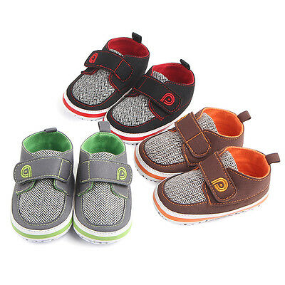 Newborn Baby Boy Infant Toddler Athletic Canvas Soft Sole Anti-slip Sports Shoes