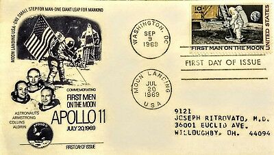 Apollo 11 First Day Of Issue Stamps 1969 Fleetwood! Man On The Moon!