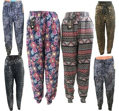 Girls Womens Ali Baba Harem Trousers Pants Leggings Ladies Baggy Hippie S,M,L,XL