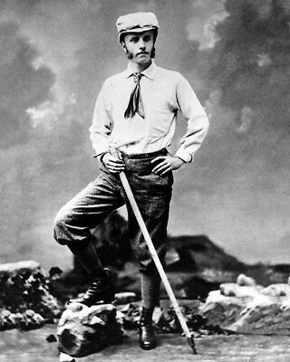 1880 Young THEODORE 'TEDDY' ROOSEVELT with axe Glossy 8x10 Photo Historic Poster