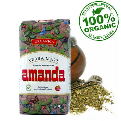 100% Organic AMANDA Yerba Mate Loose Tea Weight Loss Energy Booster 500g