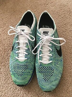 c15d5b98d8d97 NIKE FLYKNIT RACER TRANQUIL Racing Road Running Shoes MENS 10.5 44.5  526628-104