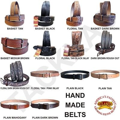 30-60 Hilason Heavy Duty Hand Made Buffalo Hide Leather Stiched Gun Holster Belt