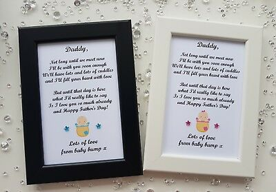 Fathers Day Photo Frame Print Gift Personalised from Baby Bump Daddy Grandad