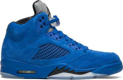 free shipping 18ef8 ace8d NIKE AIR JORDAN V Retro 5 Blue Suede Game Royal 136027-401 Authentic lot