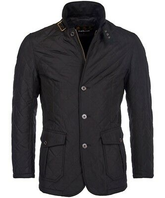 NWT $269 Barbour Macy's Exclusive Men's Quilted Lutz Jacket Black Large Slim Fit