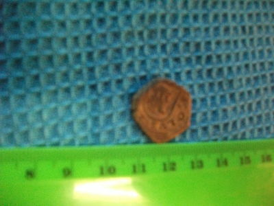 Spain  1641 coin one side,1652 on other side,Counterstamp 8 Maravedis Cob