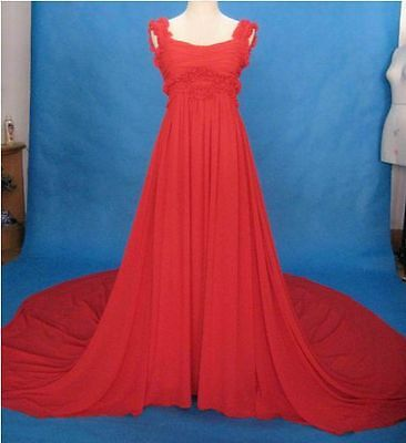Tailor Made Plus Size All Sizes Chiffon Sexy Formal Evening Bridal Wedding Dress