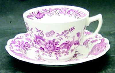 Ridgways WINDSOR PINK Cup & Saucer  S611997G2