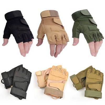 Half Finger Gloves Outdoor Hiking Adjustable Military Tactical Hunting Cycling
