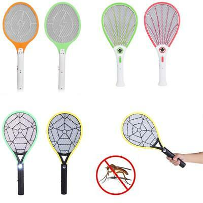 Rechargeable Electric Fly Mosquito Swatter Bug Zapper Racket Insects Killer+LED